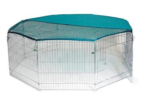 bunny business extra large rabbit run with safety net. Black Bedroom Furniture Sets. Home Design Ideas