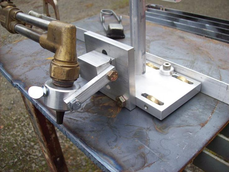 Cutting Torch Guide Tool by Torchtecguy - Torchtec, Cutting Torch Guide ToolHello, I would like to show you my homemade tool, the Torchtec cutting torch guide. What started out as a class project at the local community college in the machine shop class. As a retired millwright I knew there was a need for a tool that could help people cut steel plate using oxyacetylene or plasma cutting torches that duplicated the precision of a track burner but can fit in your hand. Can be seen and purcha