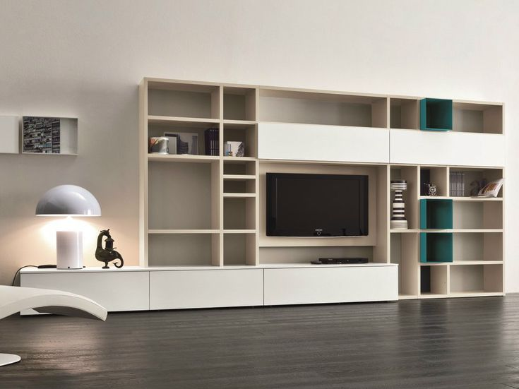 mueble modular de pared lacado con soporte para tv speed n dalluagnese