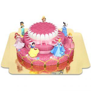 Les 7 princesses en gâteau 3 étages avec rubans