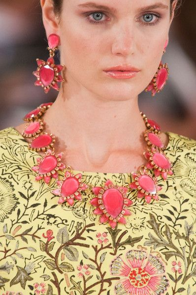 Oscar de la Renta Spring 2014 - Get the runway look at our online jewelry boutique coming soon!