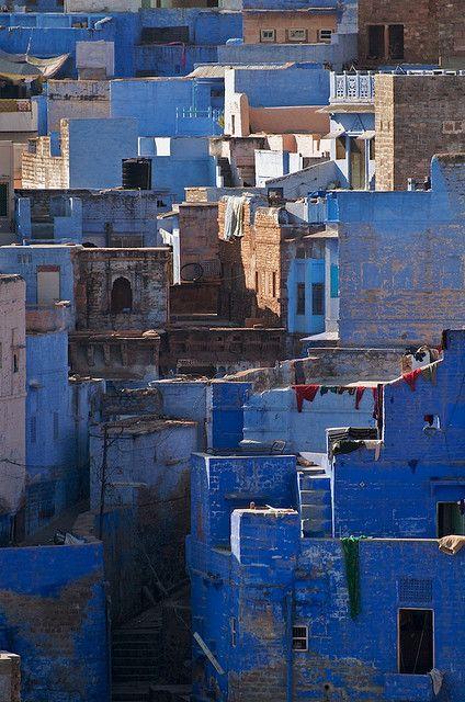 A cidade azul, Jodhpur, Índia.