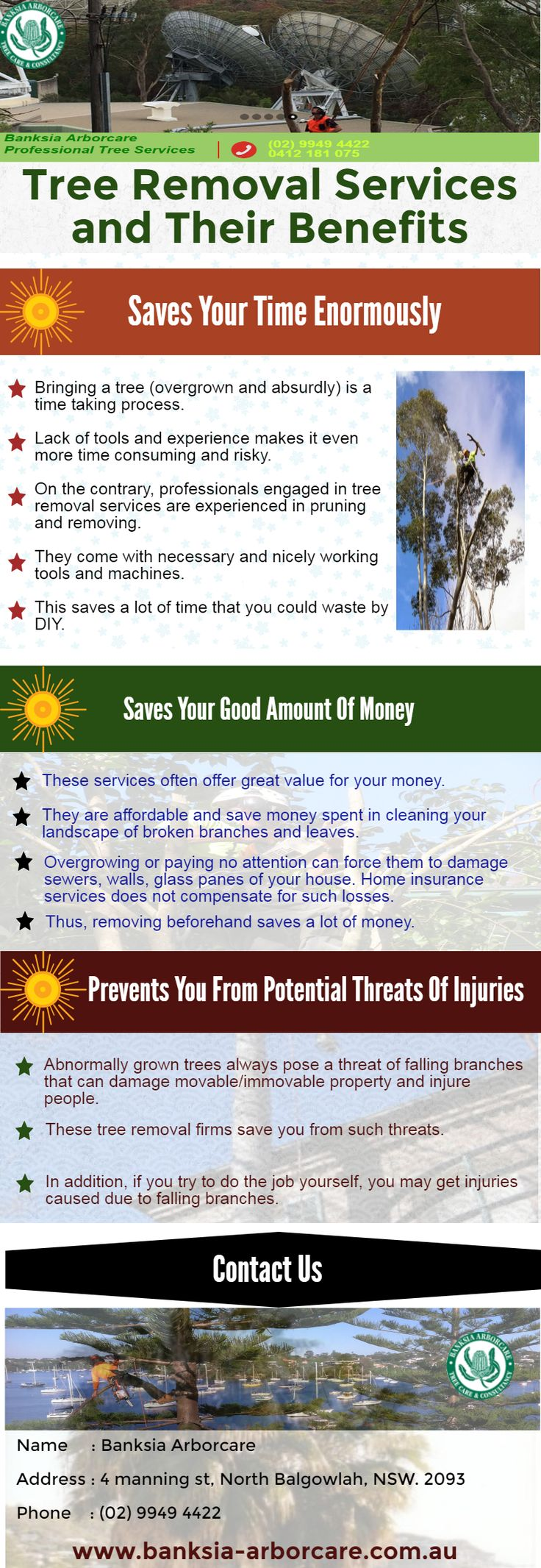 To get the most reliable and cost-effective tree removal services Sydney, rely upon the experts of BANKSIA ARBORCARE.