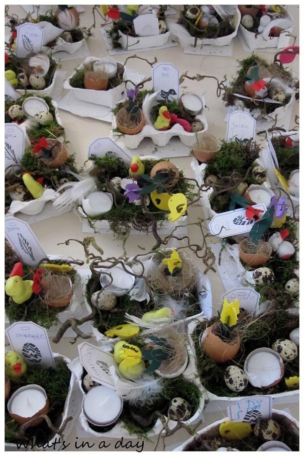 What's in a day: Eitje, eitjes, eierdozen.....paasknutselen voor kids