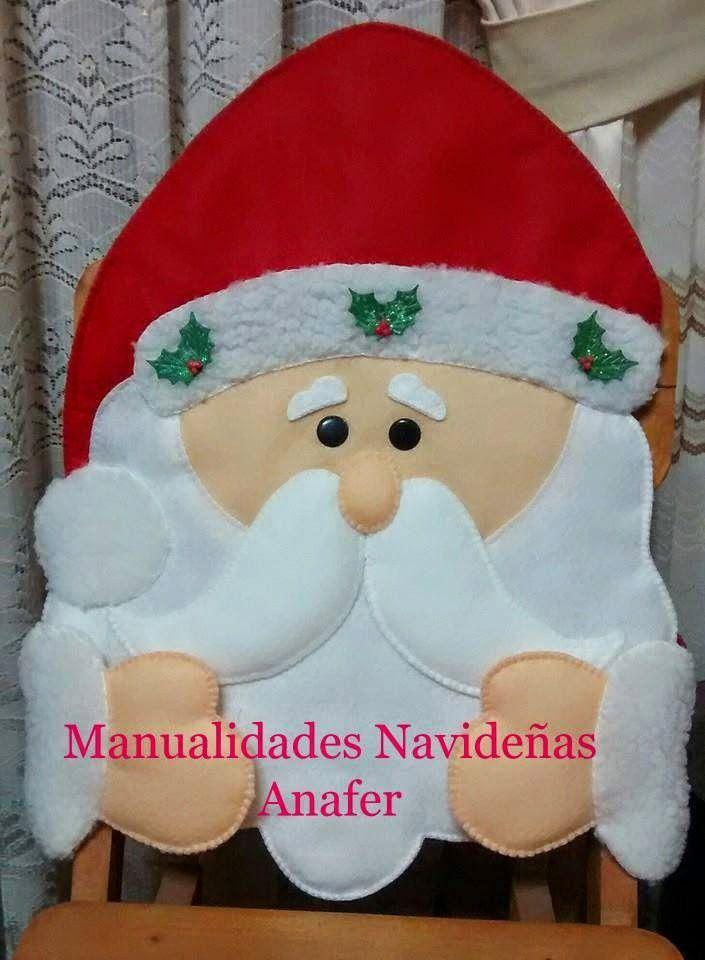 Hermosos muñecos navideños elaborados en paño lency estampado y cosidos a mano. Se adaptan a cualquier tipo de silla. ...