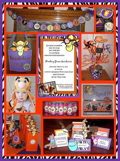 48 best Tigger Party images – Tigger Birthday Party Invitations