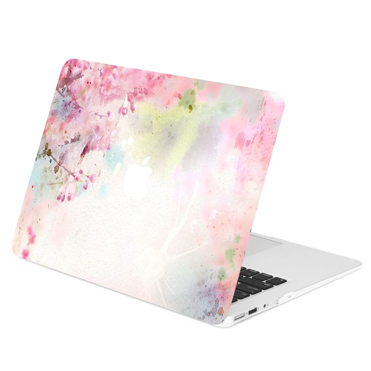 "TOP CASE - Vibrant Summer Series Rubberized Hard Case Cover for Macbook Air 13"" - Cherry Blossom"
