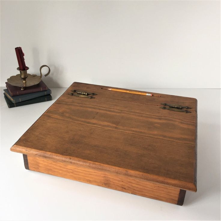 Attractive Vintage Lap Desk, Wooden Writing Box, Portable Writing Desk, Handmade  Writeru0027s Box,