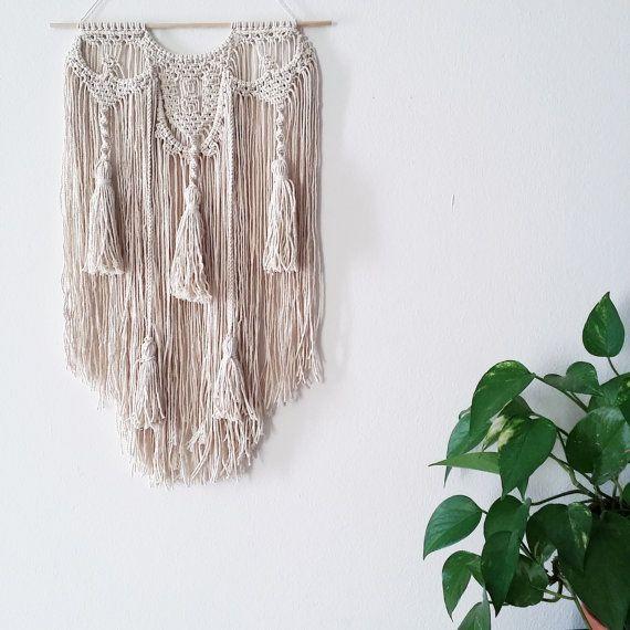 Tassel Macrame 77 wall hanging, macramé, bohemian weaving wall art, fiber art, wall decoration