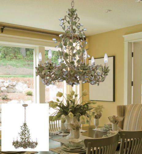 Crystal-Chandelier-Lighting-Elegant-Modern-Ceiling-6-Light-Fixture-Art-Decor-New
