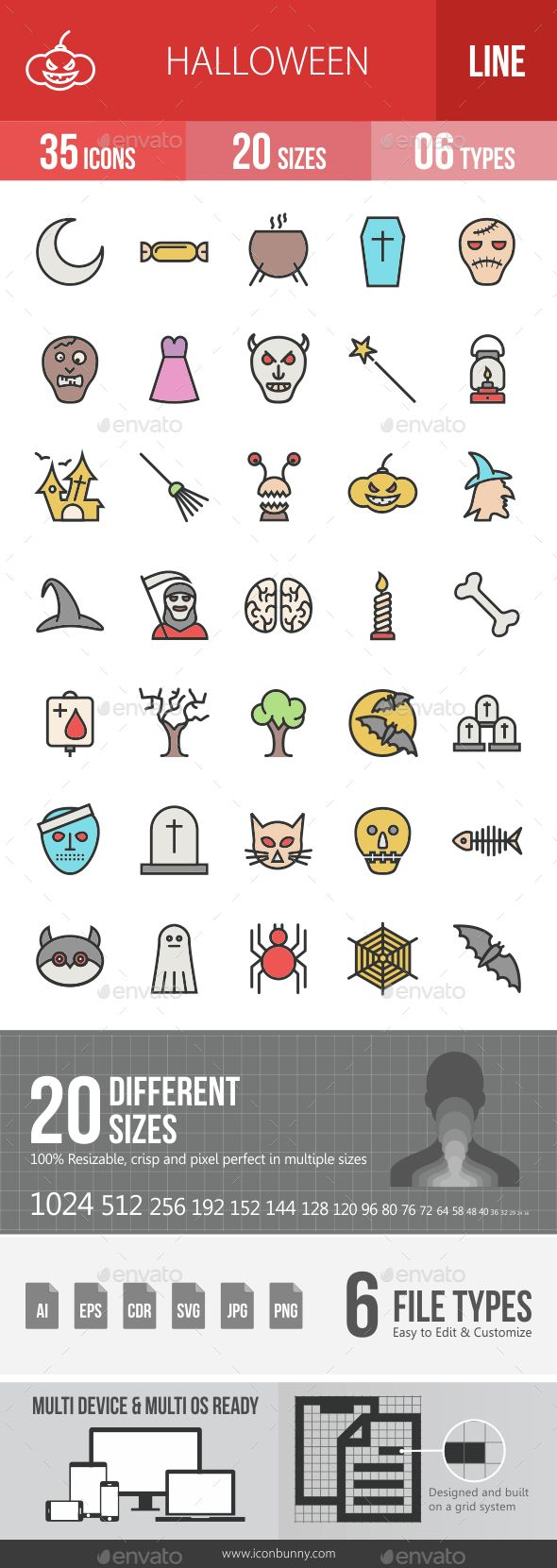 Halloween Filled Line Icons            http://graphicriver.net/item/halloween-filled-line-icons/14676163?ref=damiamio