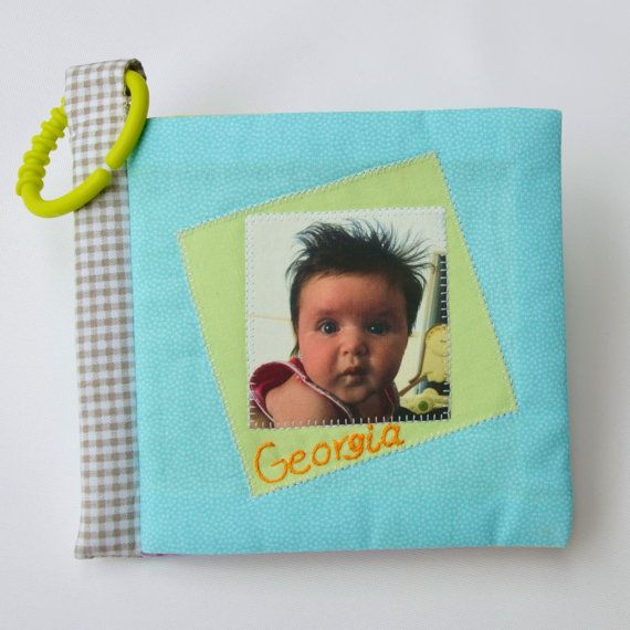 Cuddle Book 'Pastels' Personalised cloth by ILoveSaturdayMorning