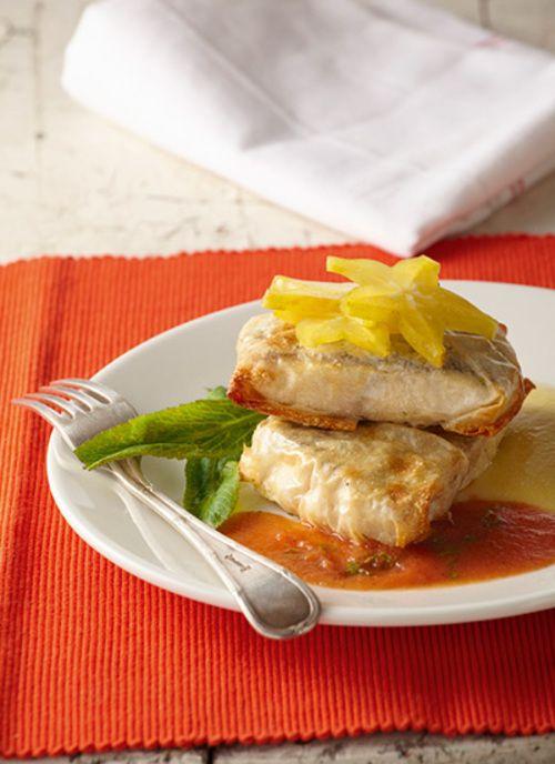 <p>Este plato es ideal para servir en una ocasión especial con amigos, por su sencillez y la mezcla de sabores y texturas. Además es una forma diferente de preparar pescado.</p>