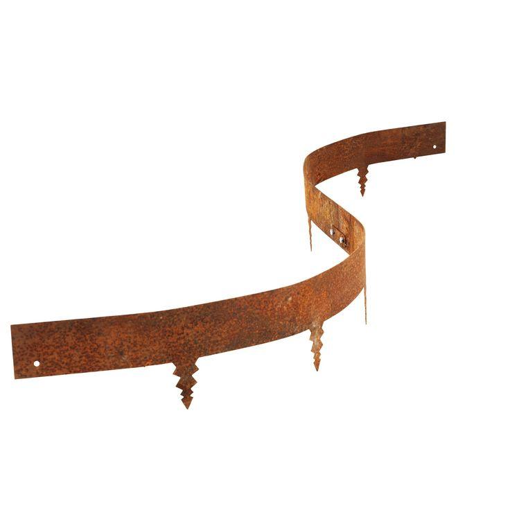 Metallkantstöd corten används för att få en snygg rabattkant efter egen design i din trädgård, genom att böja och forma kantstålet. Fraktfritt över 3999kr!