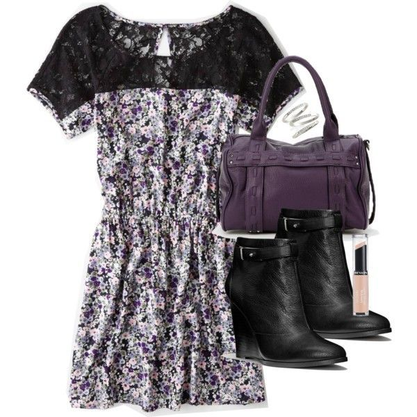 A fashion look from August 2014 featuring American Eagle Outfitters dresses, Coach ankle booties and Kimchi Blue handbags. Browse and shop related looks.