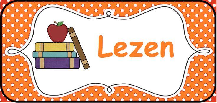 Structuur in de klas brengen: kaarten voor op het prikbord. --> Lezen/boeken © Sarah Verhoeven
