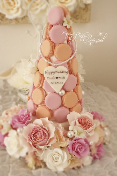 Macaron tree for the wedding reception!
