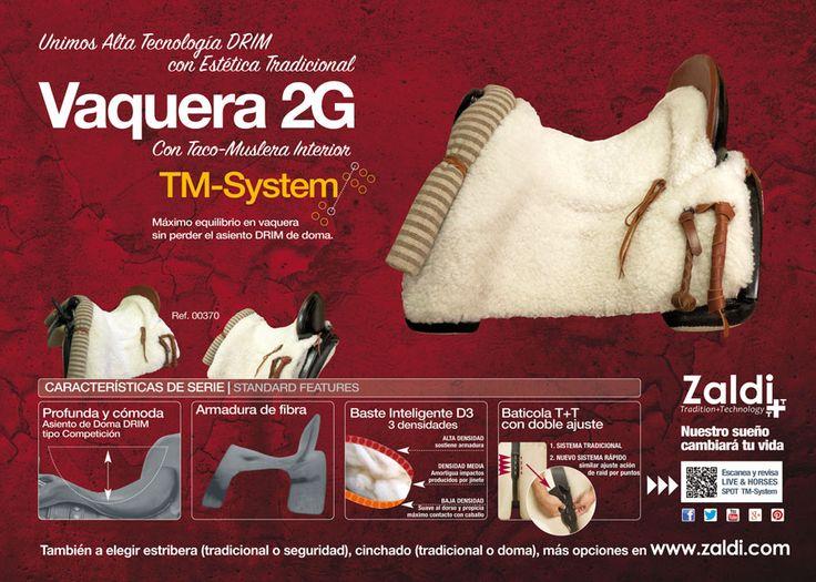🔴. Nueva VAQUERA 2G  Unión de alta tecnología DRIM con la estética tradicional.  ¡Y Taco-Muslera Interior!  21.7.2 ⏩. http://catalogo.zaldi.com/catalogo_zaldi/view/16805-silla-zaldi-c-vaquera-2g-negra