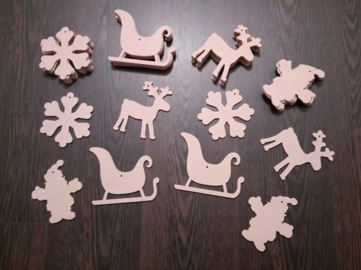 Christmas decorationts MDF CNC