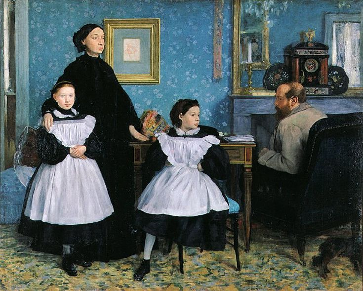 Bellelli Family, oil on canvas, from the Oxford Art Online