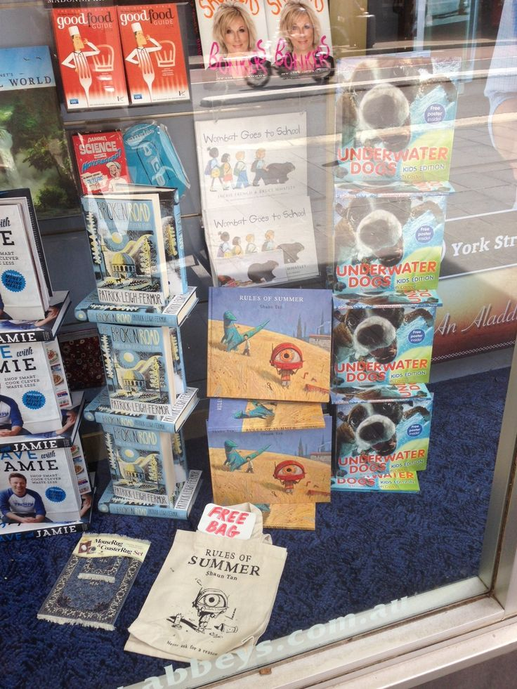 Window display at Abbey's Bookstore in Sydney!