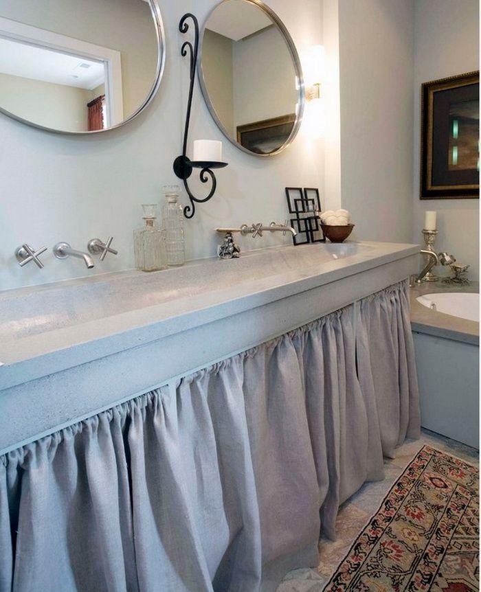 Ванная в  цветах:   Бирюзовый, Светло-серый, Серый.  Ванная в  стиле:   минимализм.