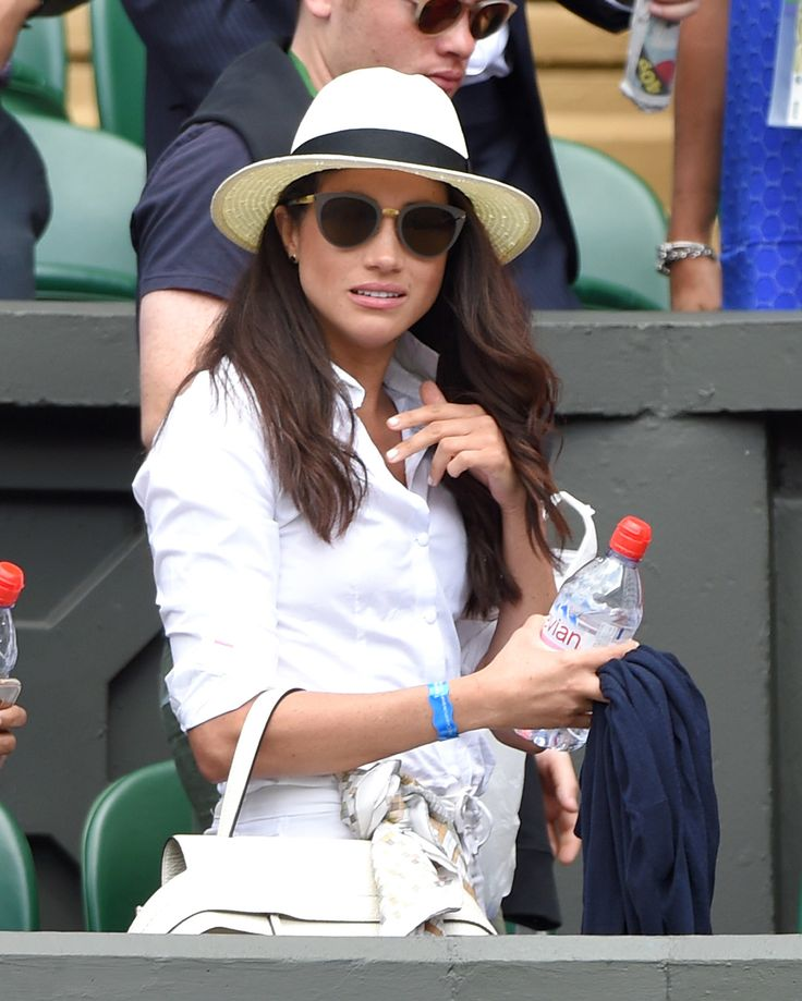 LONDON, ENGLAND - JUNE 28:  Meghan Markle attends day two of the Wimbledon Tennis Championships at Wimbledon on June 28, 2016 in London, England.  (Photo by Karwai Tang/WireImage) via @AOL_Lifestyle Read more: https://www.aol.com/article/lifestyle/2017/02/28/meghan-markle-style-transformation/21860612/?a_dgi=aolshare_pinterest#fullscreen