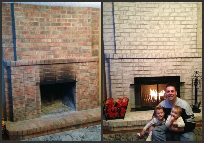 22 best images about painting brick with brick anew on - How to reface a brick fireplace ...