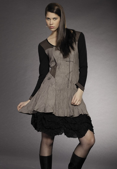 Dolcezza Taupe Tunic and Skirt
