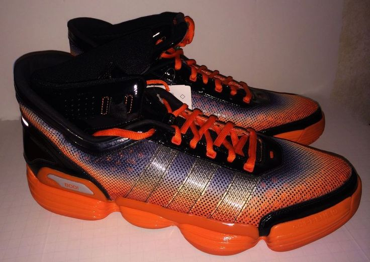 New Mens 17 ADIDAS TS Heat Check HALLOWEEN Orange Black Basketball Shoes  Sneaker