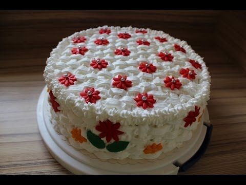 Basket pattern birthday cake (how to) Korb Torte Ideal als Muttertagstorte selber machen Anleitung