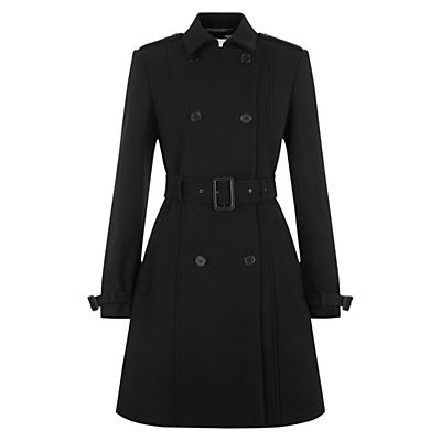 Cover up in classic style with this timeless black trench coat from Hobbs. Layer yours over smart separates for an office-friendly ensemble.