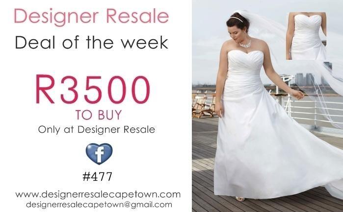 #dealoftheweek beautiful #weddingdress R3500 to Buy only at Designer Resale Cape Town www.designerresalecapetown.com