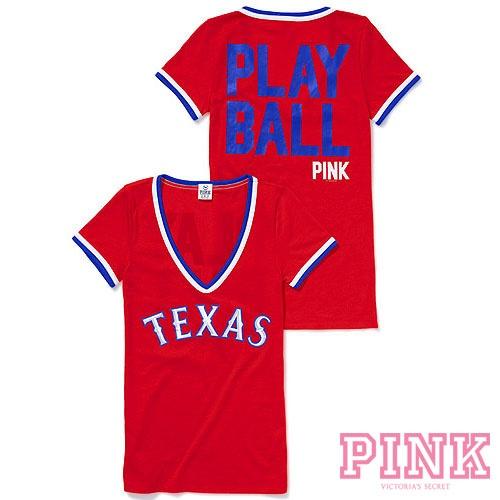 texas rangers pink apparel