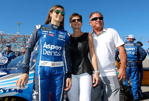 Danica Patrick Photos - Danica Patrick, driver of the #10 Aspen Dental Ford, poses with her parentsr T.J.  and Bev Patrick before the Monster Energy NASCAR Cup Series Championship Ford EcoBoost 400 at Homestead-Miami Speedway on November 19, 2017 in Homestead, Florida. - Monster Energy NASCAR Cup Series Championship Ford EcoBoost 400