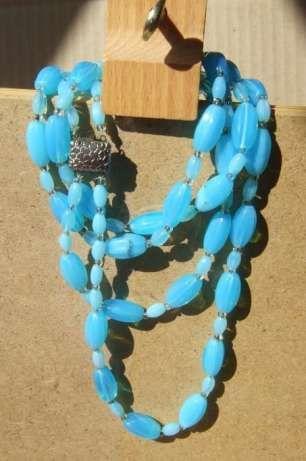 Колье из двух ниток бус из бабушкиной шкатулки. Стиль Бохо шик Харьков - изображение 1