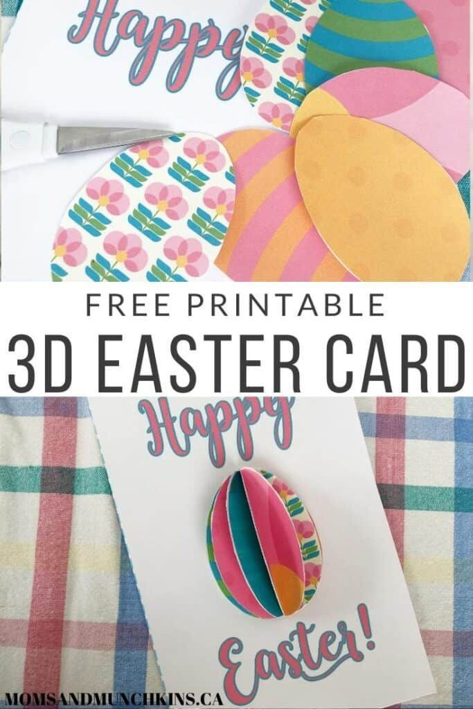 Free Printable 3d Easter Card Easter Cards Printable Easter Printables Free Easter Cards