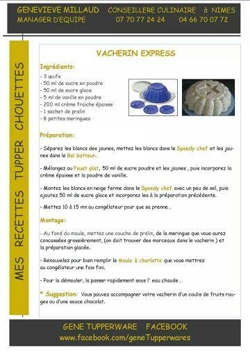 Tupperware - Vacherin express