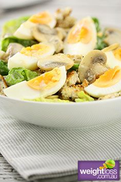 Vegetarian Caesar Salad Recipe #HealthyRecipes #DietRecipes #WeightlossRecipes weightloss.com.au