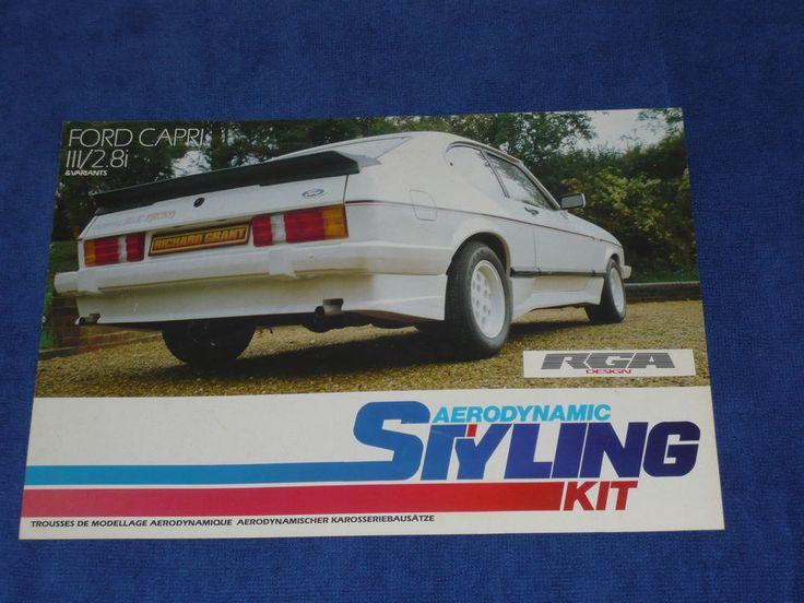 Ford Capri 2.8i 2.8 Injection Mk3 RGA Design Styling Kit Brochure Prospekt Rare