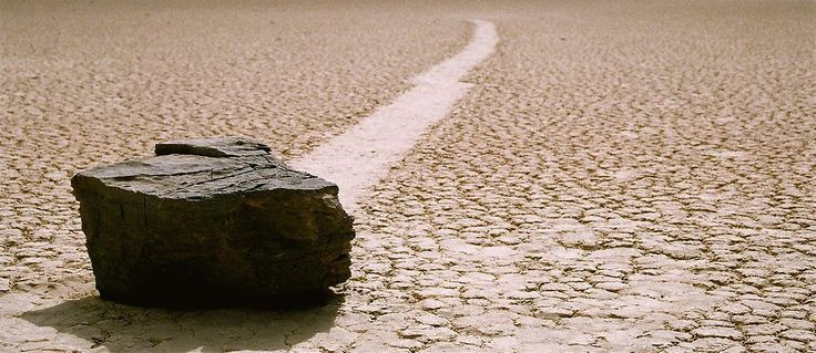 Death Valley, Racetrack Playa - Sailing Stones Phenomenon