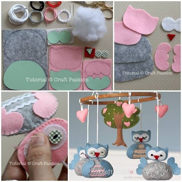 DIY Nursery Mobile diy kids crafts how to tutorial home crafts