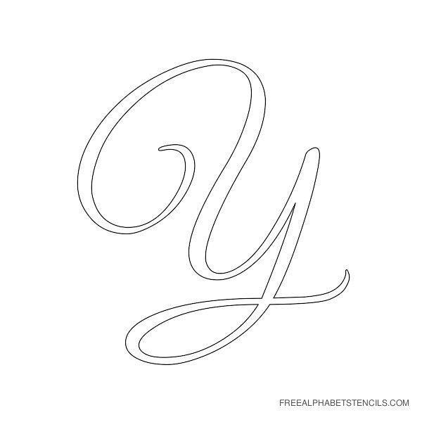 Elegant Cursive Alphabet Stencils in Printable Format   Free Printable Stencils Com