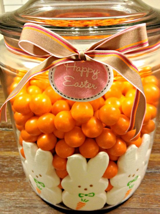 250 best holidayseaster images on pinterest easter recipes easter table centerpiece with peeps can do any holiday by switching the colors and the peeps love this cute gift idea too negle Images