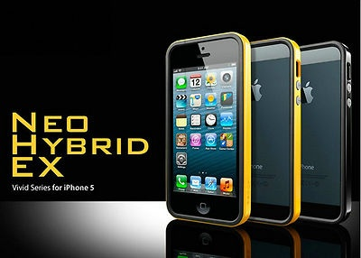 Bumper per iPhone5 SGP Neo Hybrid Vivid Series + Pellicola + Home Button