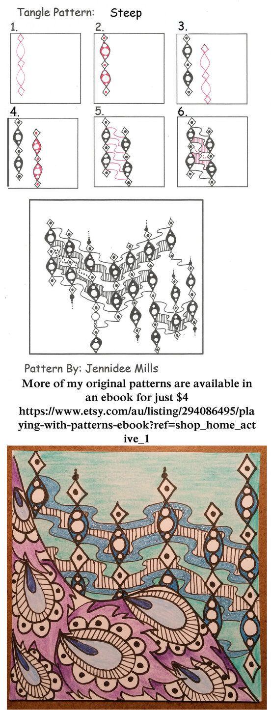 Steep zentangle pattern by astraldreamer