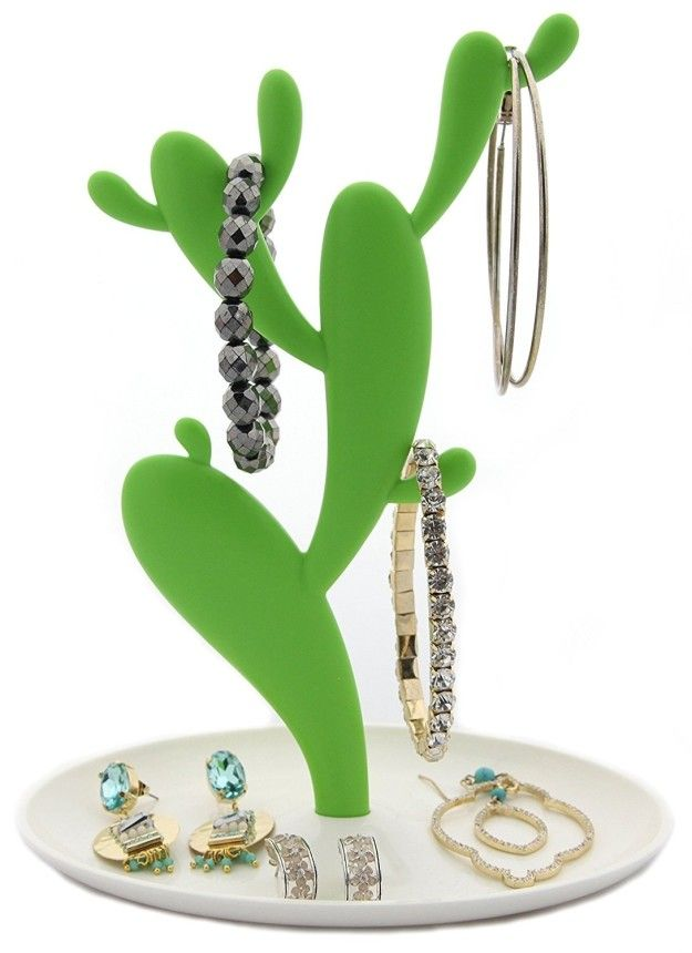 A cactus jewelry stand for your bestie with an enviable accessory collection. | 27 Amazing Gifts That Are Actually Useful