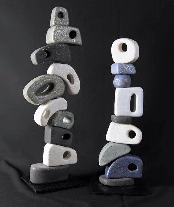 My ceramic totems / Ozlem Menekay