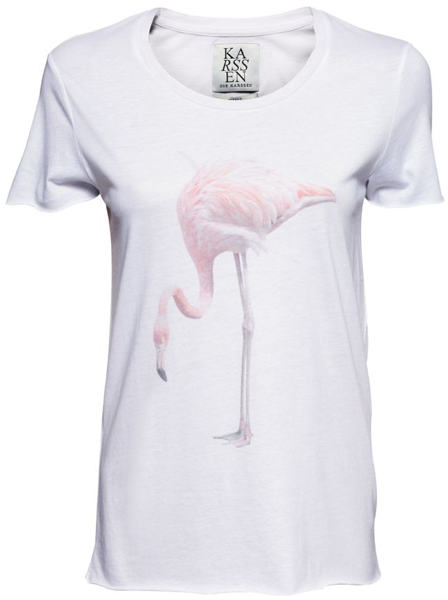 Flamingo T-Shirt - White | ZOE KARSSEN | Designers | Shop-Label.com