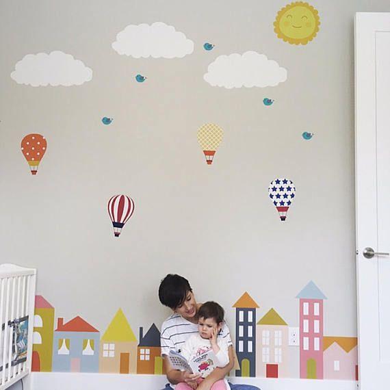 City Wall Decals Nursery Wall Decal Wall Decals Nursery